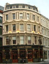 The viaduct Tavern in London.